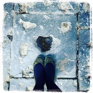 piedi sul lastrone