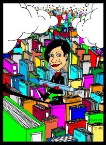 Tizianeda tra i grattacieli di parole è stata disegnata dalla mano di  Domneico Bafometto Loddo
